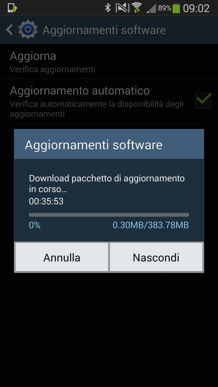 Samsung Galaxy Note 3 no brand si aggiorna ad Android 4.4.2 KitKat in Italia