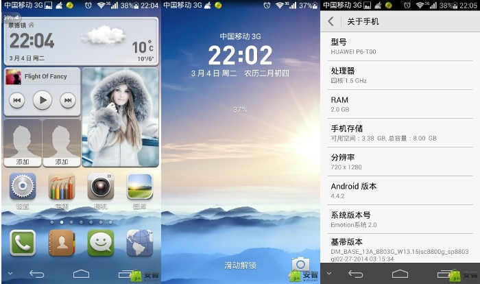 Android 4.4 Ascend p6