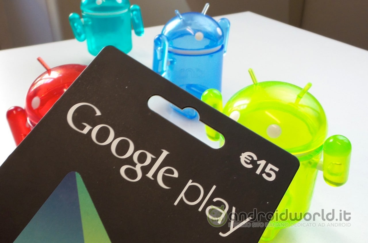 Carte Regalo Google Play final