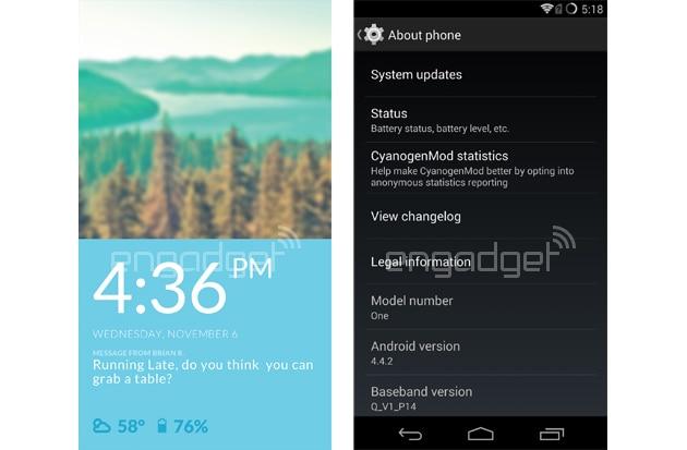 Ecco le prime schermate di CyanogenMod su OnePlus One