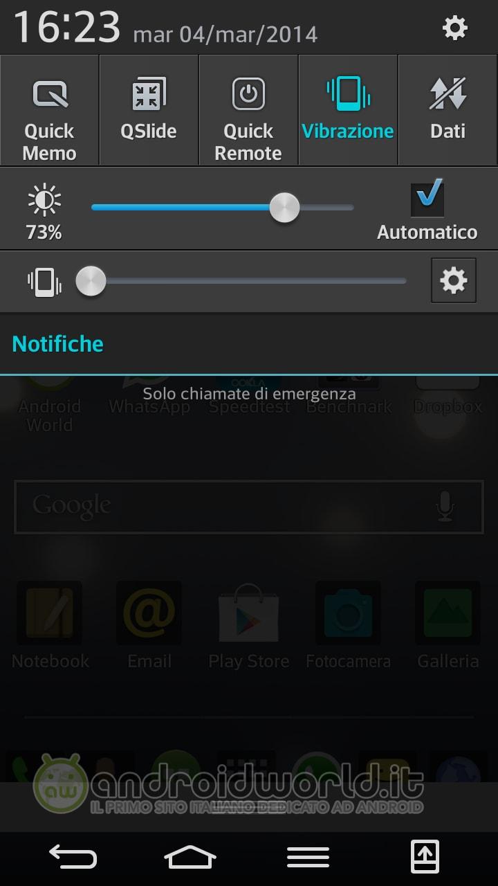 LG G Flex Screenshot Notifiche