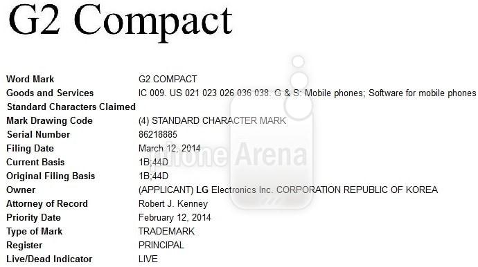 """LG registra il marchio G2 Compact: in arrivo un vero top di gamma """"compatto""""?"""