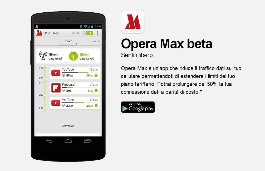 Opera Max beta, la nostra prova dell'app di compressione dati (foto)