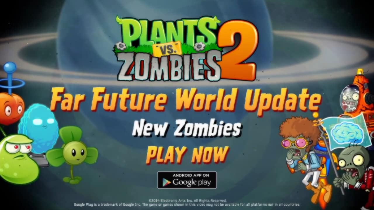 Plants vs. Zombies 2 update