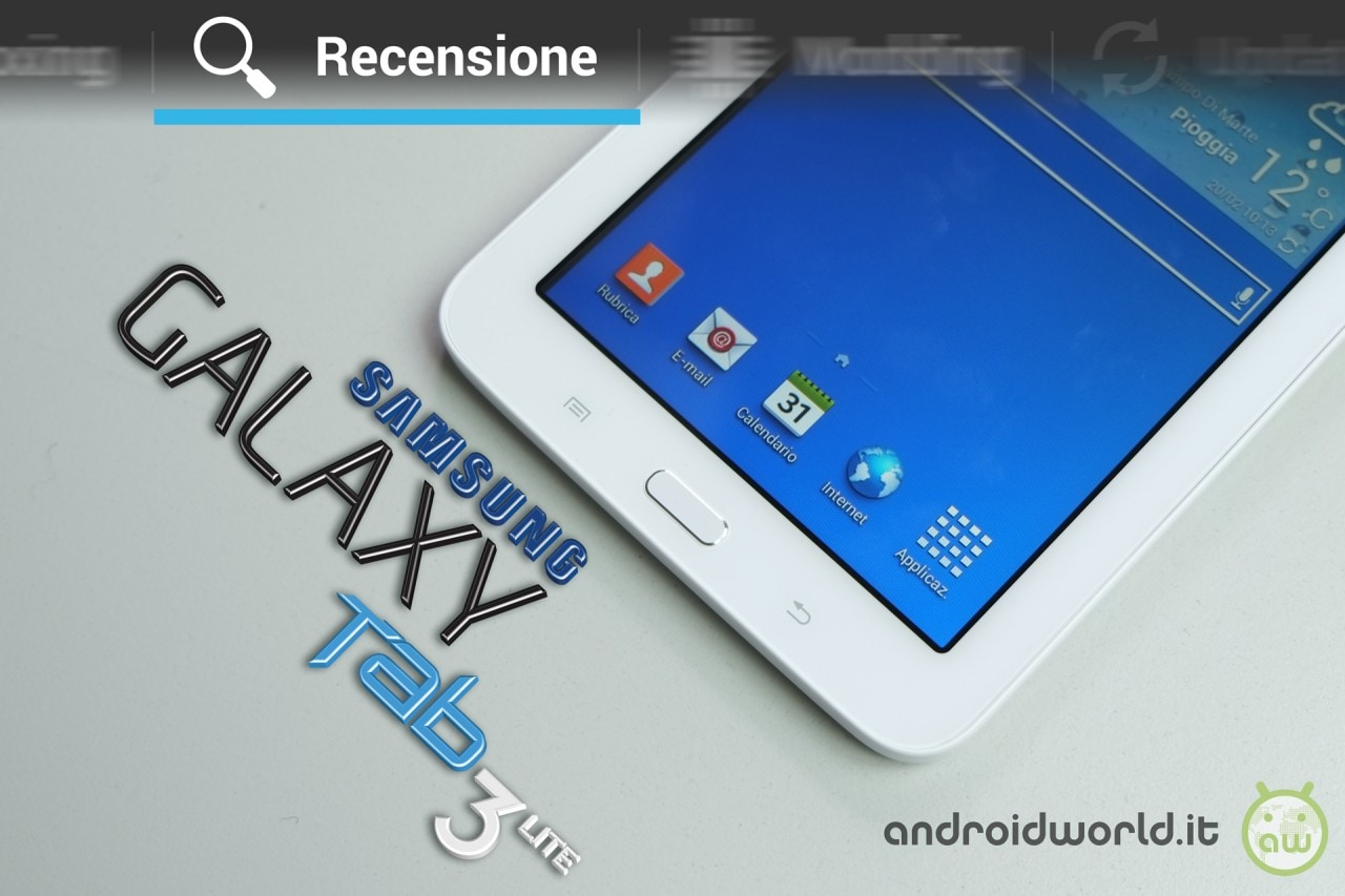 recensione samsung galaxy tab 3 lite dal video al software al giudizio finale androidworld. Black Bedroom Furniture Sets. Home Design Ideas