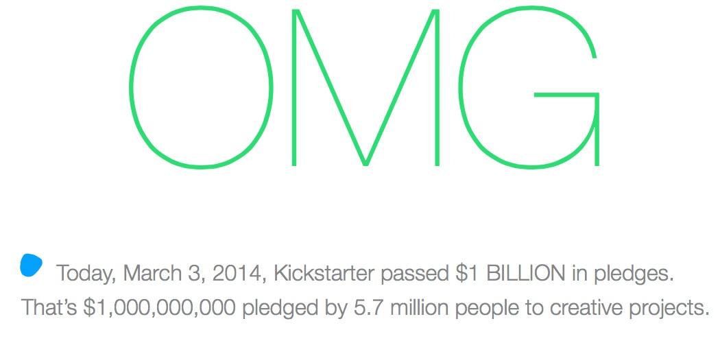 kickstarter billion