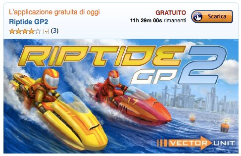 Riptide GP2 gratis solo per oggi su Amazon App-Shop