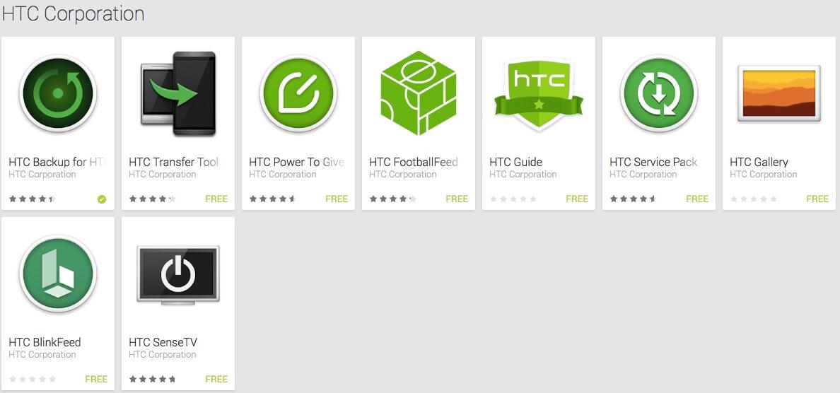 HTC continua a pubblicare app sul Play Store e conferma HTC One (M8) Google Play Edition