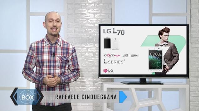 Raffaele Cinquegrana presenta anche LG L70 (video)
