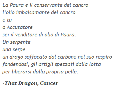 That Dragon, Cancer poema ita