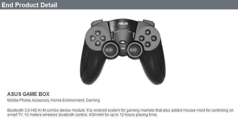 Ecco il controller della console ASUS Gamebox