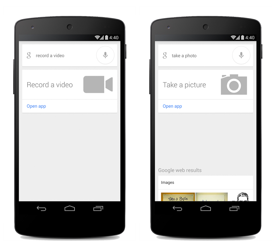 google now take a picture video