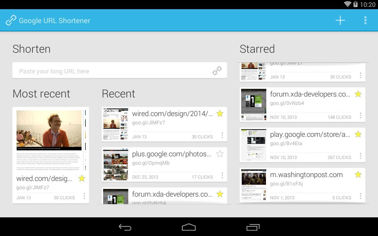 L'abbreviatore di URL di Google ora ha anche un'app