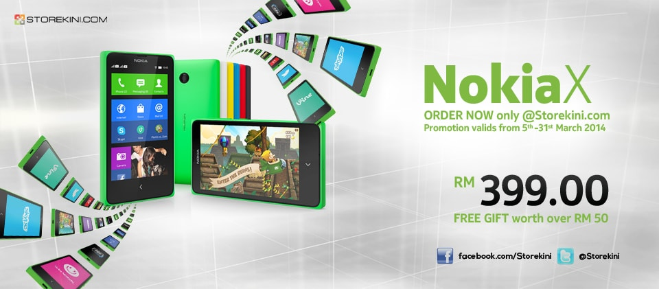Nokia X in vendita in Malesia per 89€