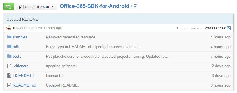 Microsoft rilascia l'SDK di Office 365 per Android (video)