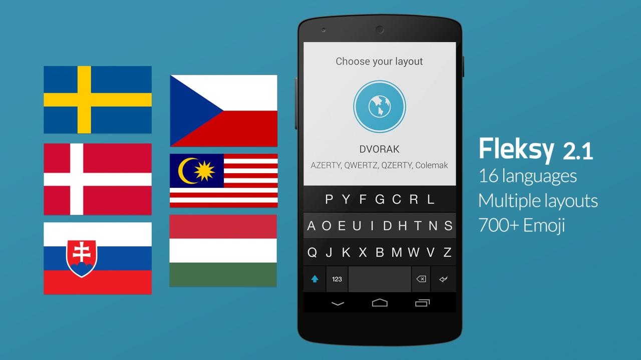 Fleksy si aggiorna alla 2.1, con nuove lingue e layout multipli (foto)