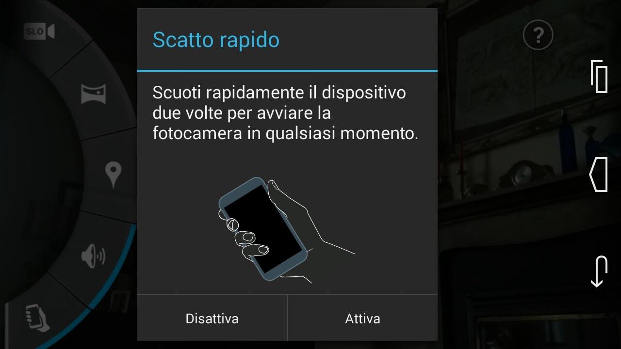 Avvio rapido fotocamera Moto X