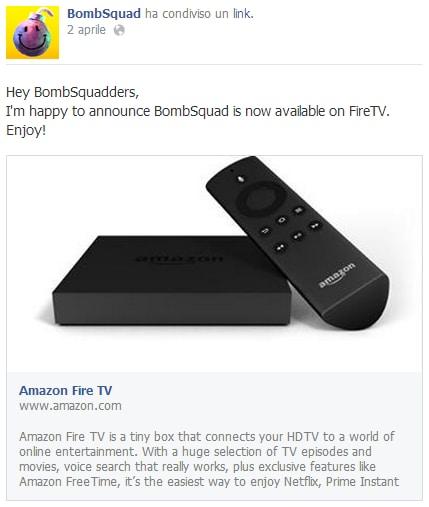 OUYA perde un'altra esclusiva: Bombsquad è disponibile anche per Fire TV