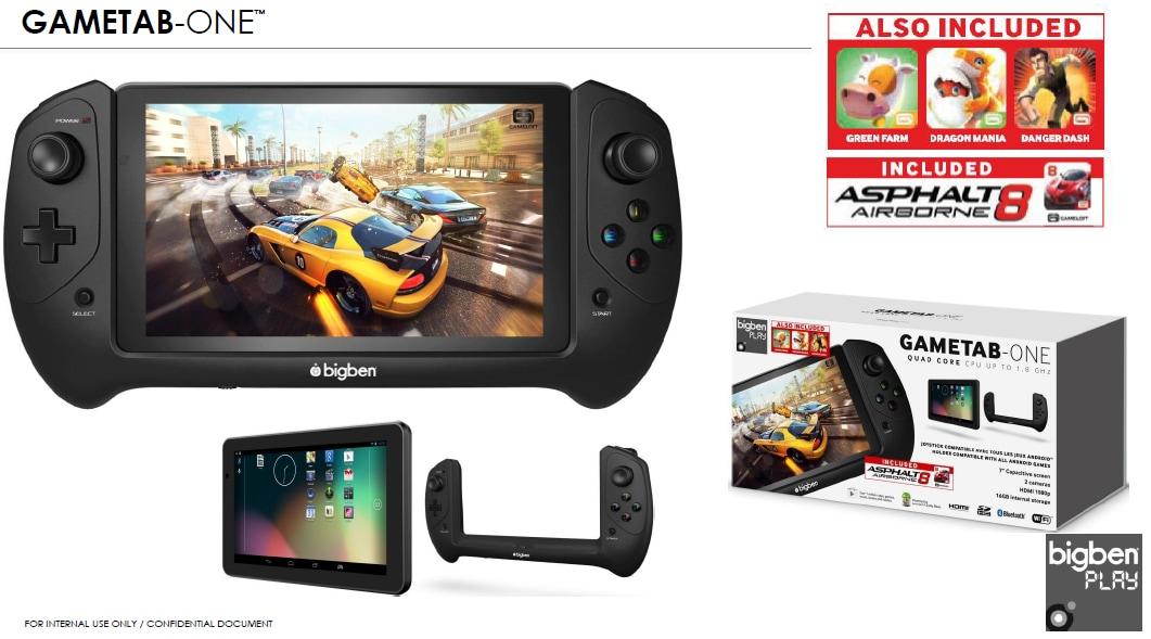 Bigben presenta GAMETAB-ONE, il tablet dedicato agli appassionati di mobile gaming