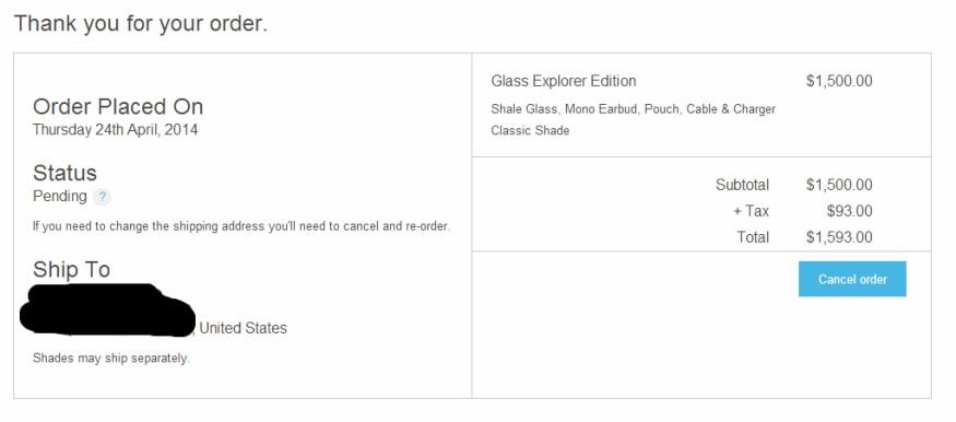 Google Glass acquisto
