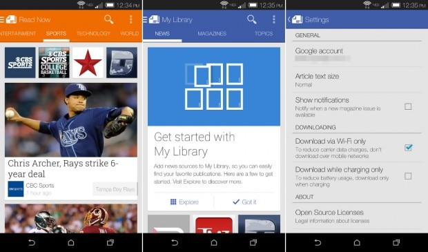 Google Play Newsstand 2