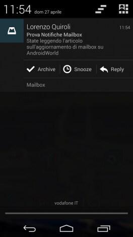 Mailbox Notifiche