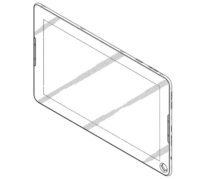 Samsung brevetta il design di un tablet con un buco (foto)