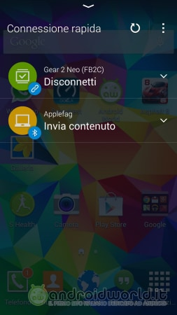 Screenshot Galaxy S5 Connessione Rapida