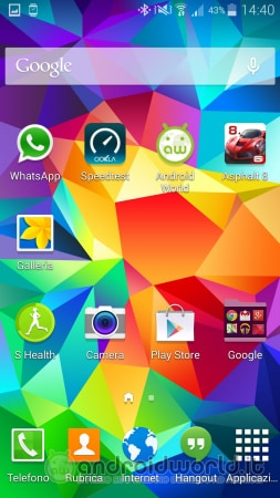 Screenshot Galaxy S5 Home