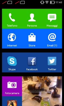 Screenshot Nokia X Home