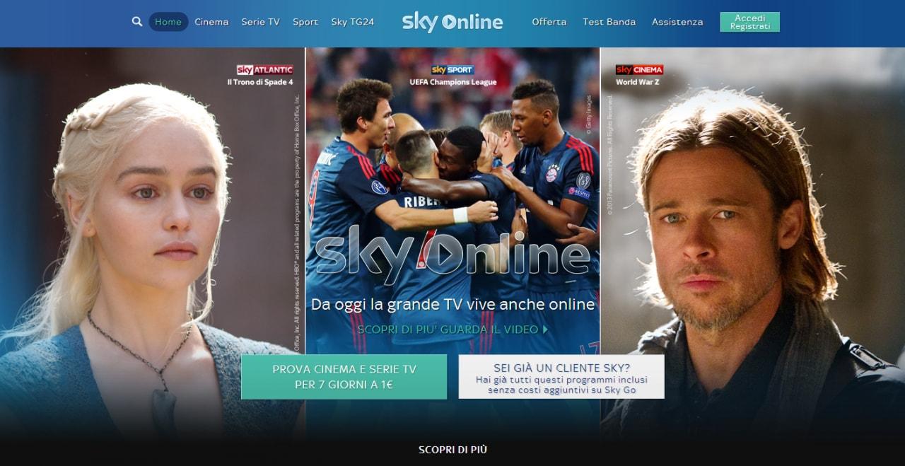 Sky Online: arriva il nuovo servizio di Sky per la TV online, ma solo su tablet Samsung (video)