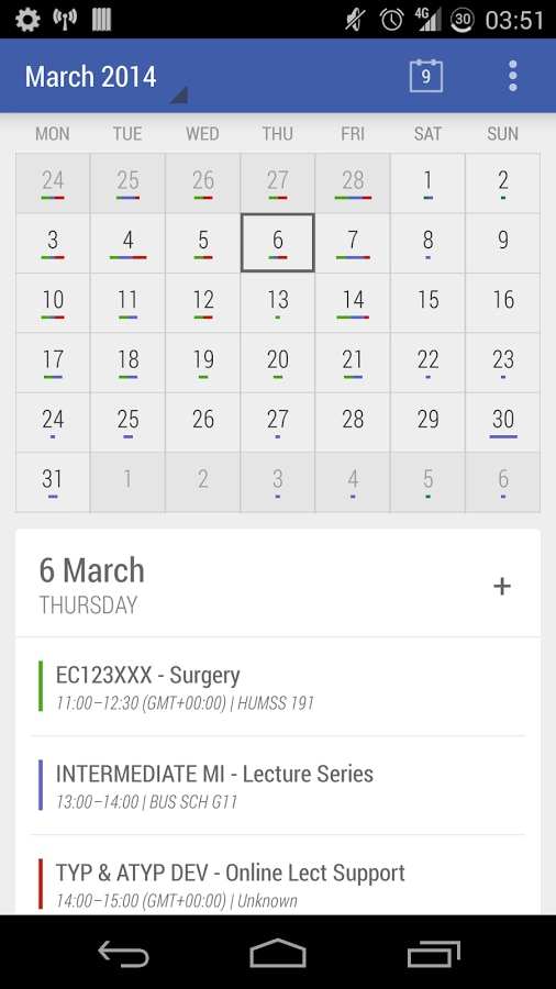 Today Calendar, il calendario AOSP secondo Jack Underwood