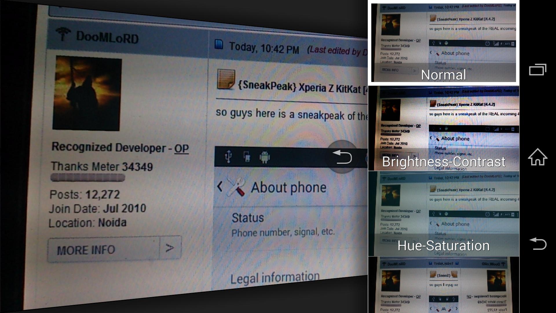 Xperia z con android 4 4 2 kitkat si mostra in alcuni - Rubrica android colori diversi ...