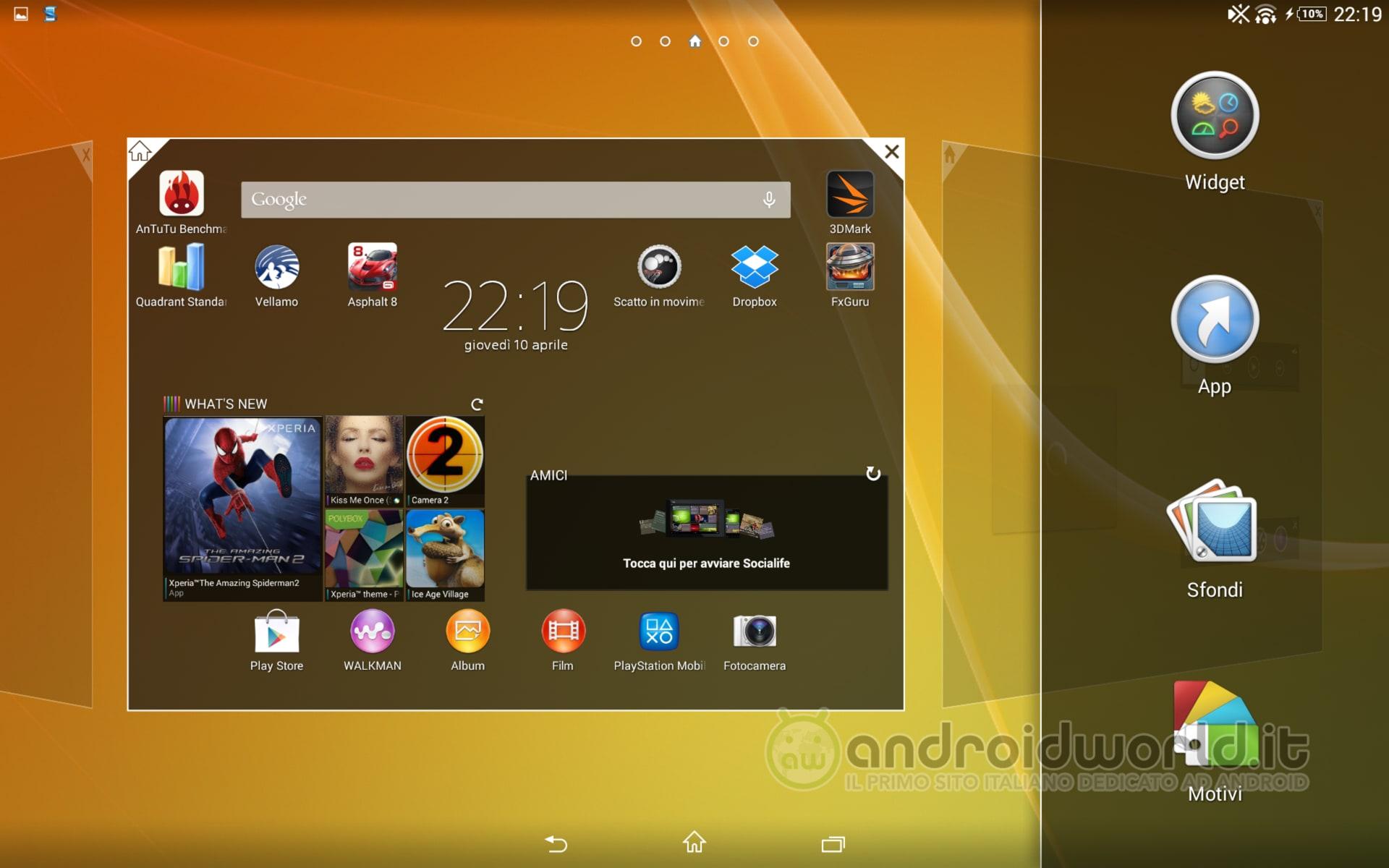 Xperia Z2 Tablet Widget