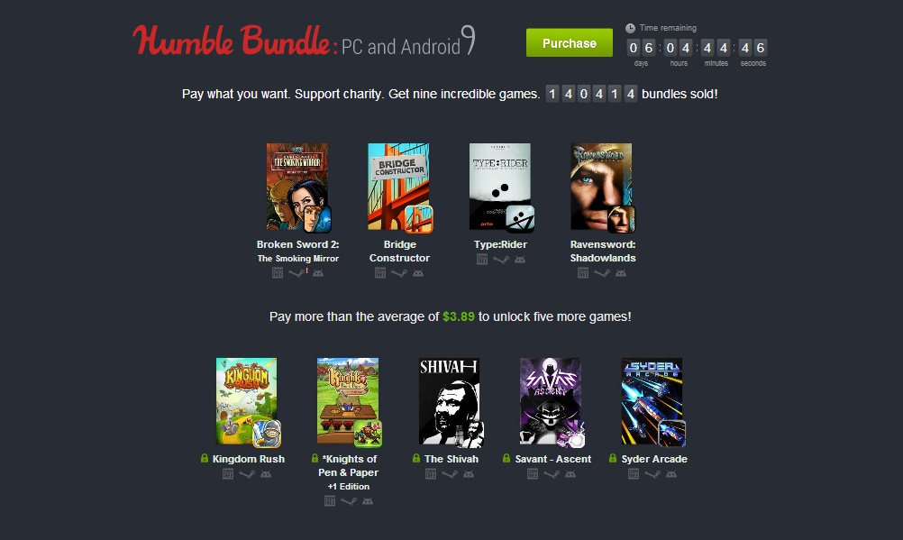 humble bundle pc and android 9 new