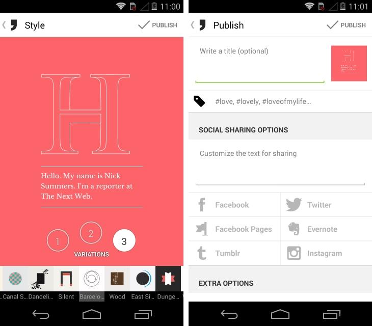 Arriva l'Instagram per gli appassionati di tipografia e note: Notegraphy (video)