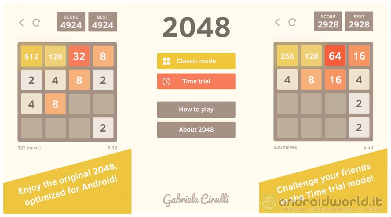 2048 by Gabriele Cirulli Header
