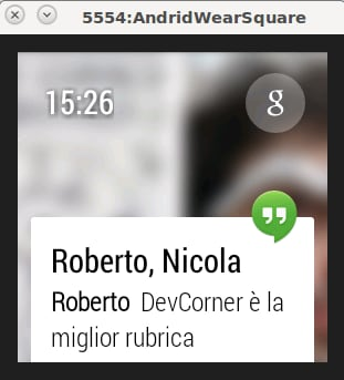 AndroidWear - Notifica Hangouts