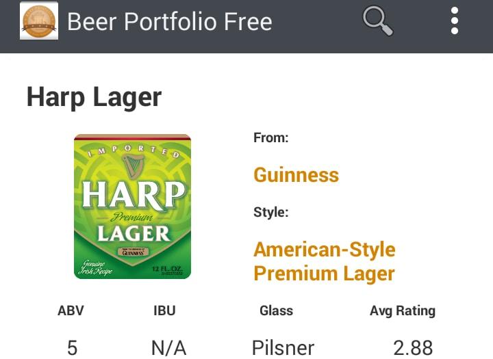 Beer Portfolio