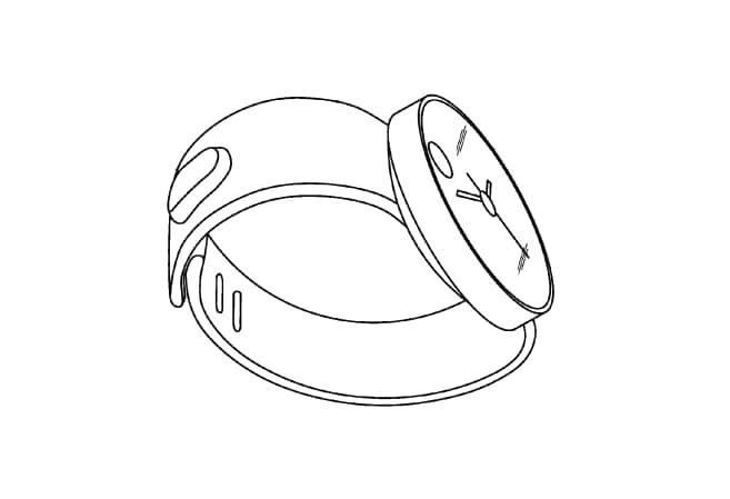 Samsung brevetta Moto 360 (foto)