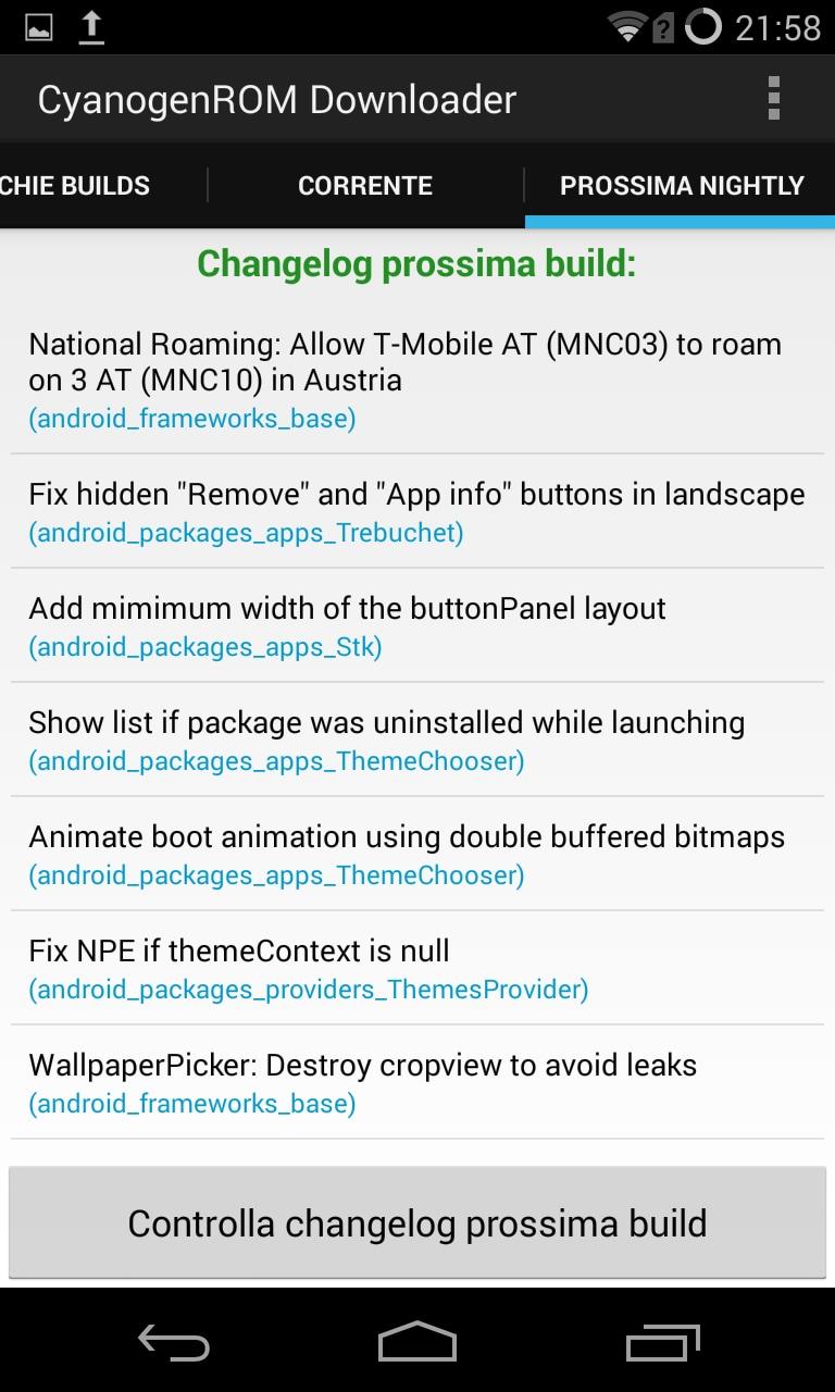 Cyanogen ROM Downloader 1