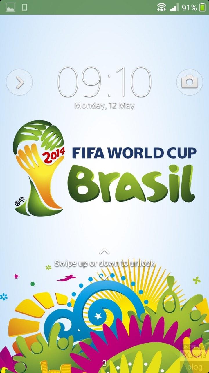 Trapelato il tema della Coppa del Mondo 2014 per Xperia Theme (foto e download apk)