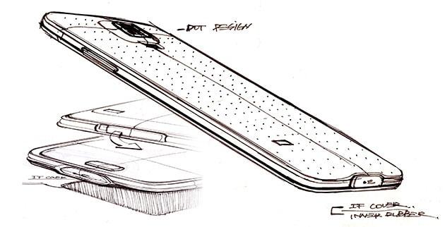 Galaxy S5 Design bozzetti