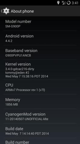 Galaxy S5 cyanogenmod