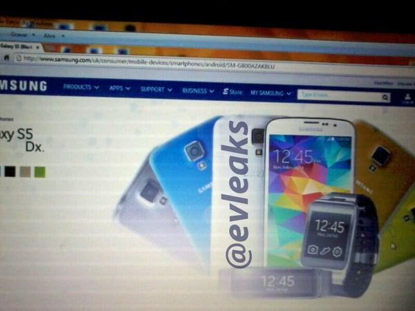 Galaxy S5 Dx appare sul sito Samsung: sarà il Galaxy S5 mini?