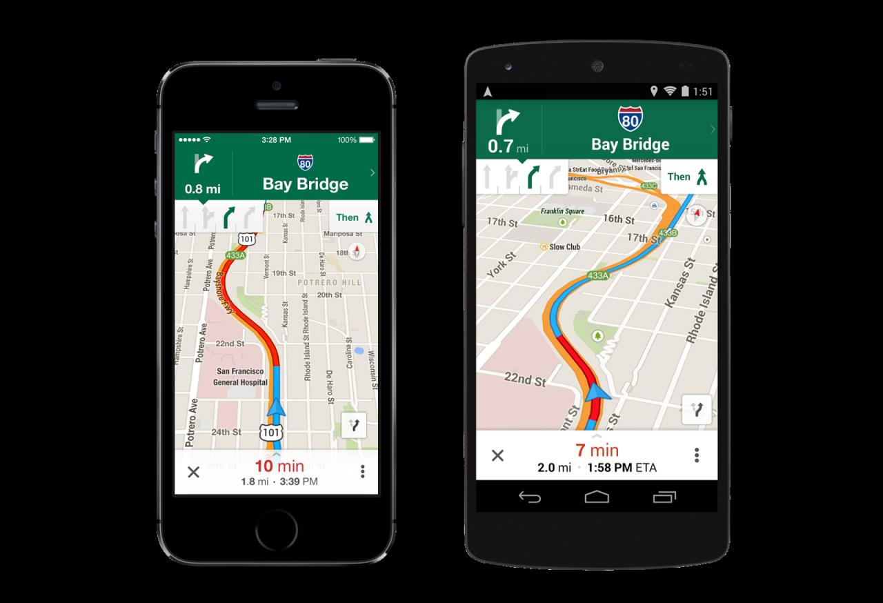 Google Maps corsia