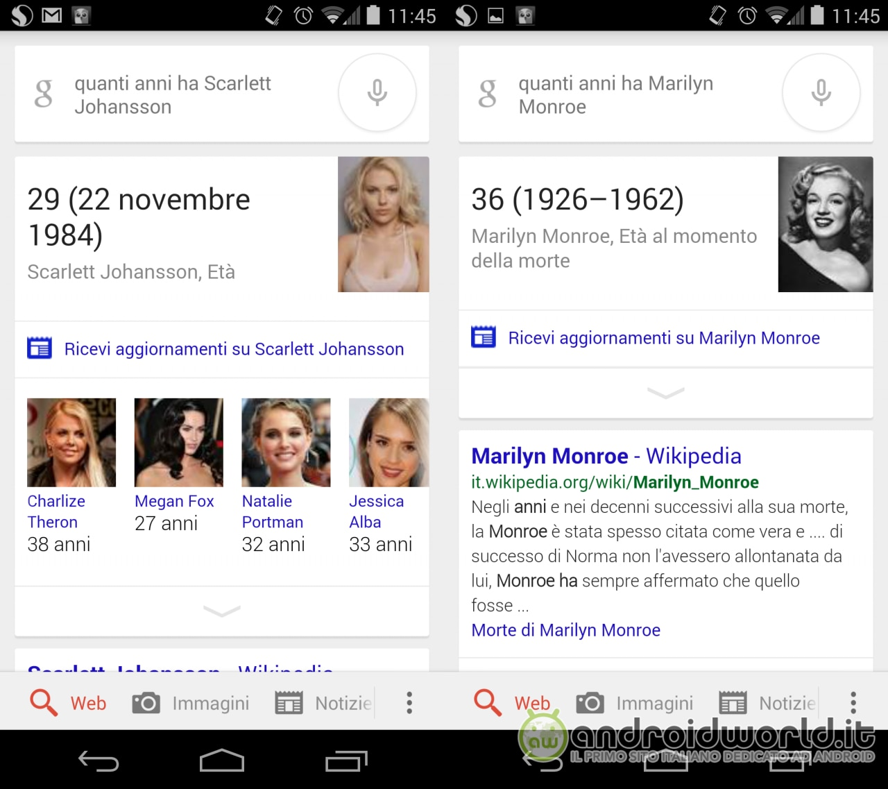 Google Now Domande Ita
