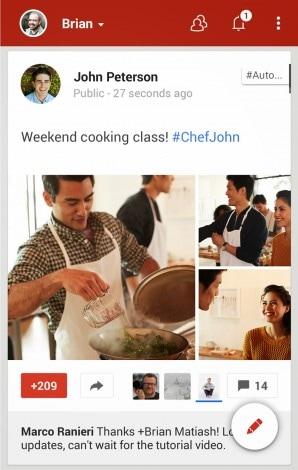 Google Plus nuova UI