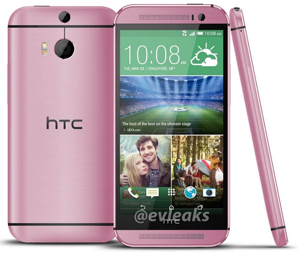 HTC One (M8) rosa